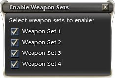 Enable all Weapon Sets