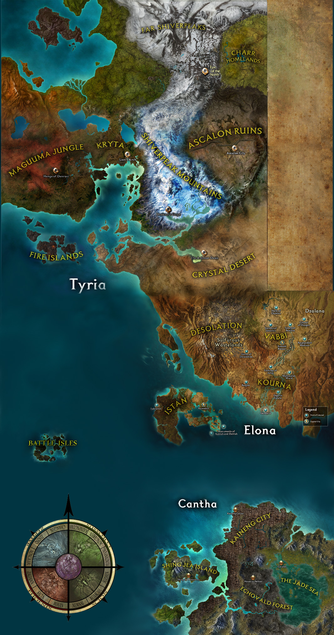 Guild Wars 1 World Map.New World Map 8 8 17 Patch Guildwars2