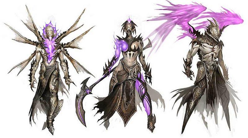 Konzept-Zeichnung der dämonischen Margoniter