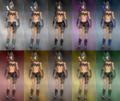 Female warrior Elite Gladiator armor dye chart.png