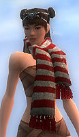 Stylish Red Striped Scarf front.jpg