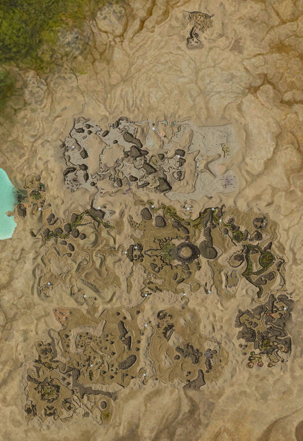 how to draw a desert on a map