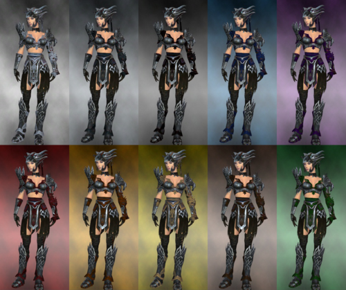 Female warrior Silver Eagle armor dye chart.png