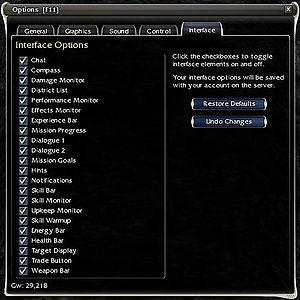User interface - Guild Wars Wiki (GWW)