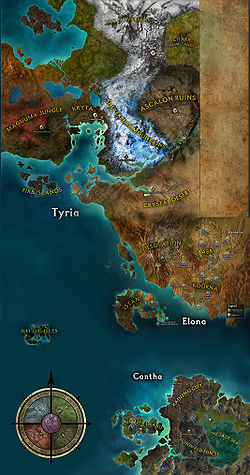Guild Wars World Map List of maps   Guild Wars Wiki (GWW)