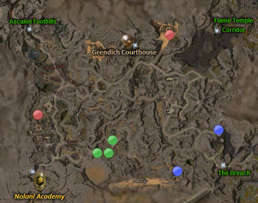 prophecies map guild wars. Map: Diessa Lowlands