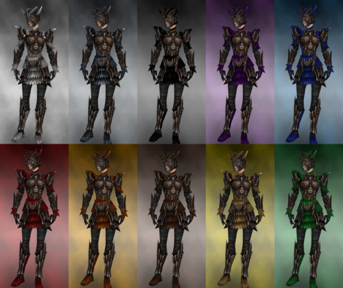 Female warrior Elite Dragon armor dye chart.png