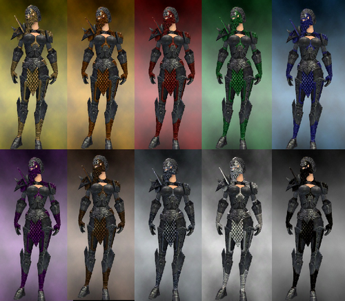 Female warrior Elite Platemail armor dye chart.png