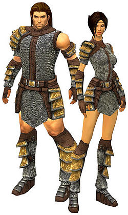 A male and female warrior
