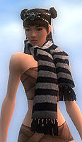 Stylish White Striped Scarf front.jpg
