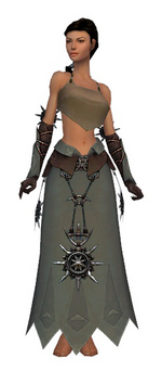 Dervish Elite Sunspear armor f gray front arms legs.png