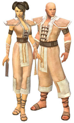 A male and female monk