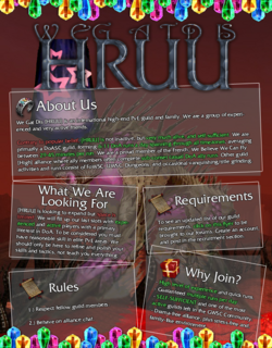 Current guild recruitment flyer.
