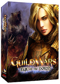 Jora on the cover of the Eye of the North box.