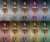 Female warrior Gladiator armor dye chart.png